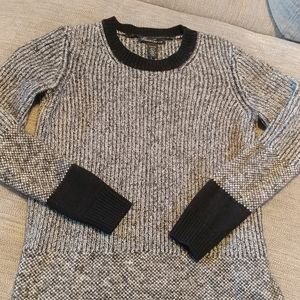 Kenneth cole wool blend sweater b&w size small